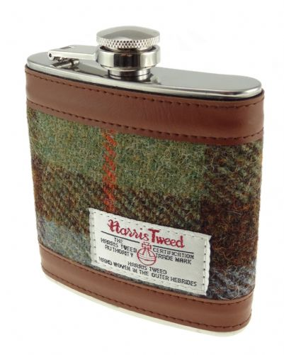 Harris Tweed Hip Flask - Tartan